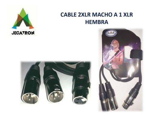 cable 2 xlr macho a 1 xlr hembra