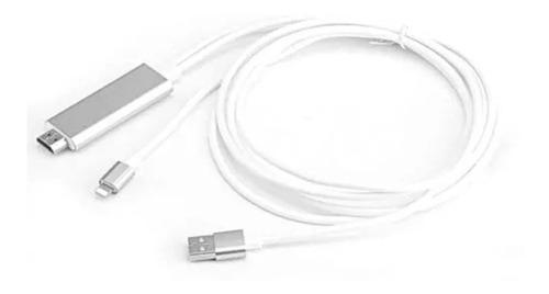 cable 3 en 1 adaptador hdtv hdmi usb iphone para televisión