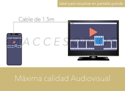 cable 3 en 1 hdmi a: hdmi - mini hdmi - micro hdmi - full hd