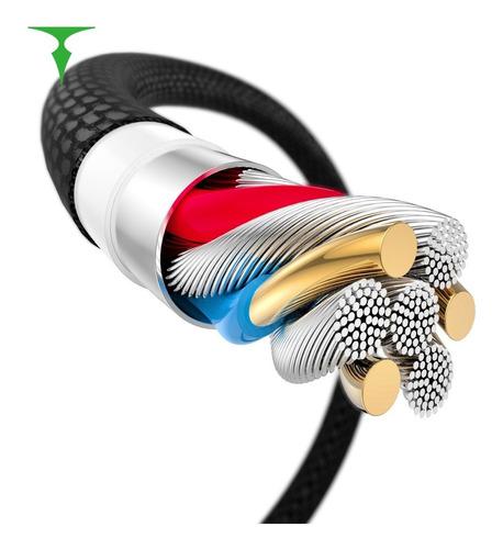 cable 3 en 1 micro-usb lightning type c snake serie 1,2mts