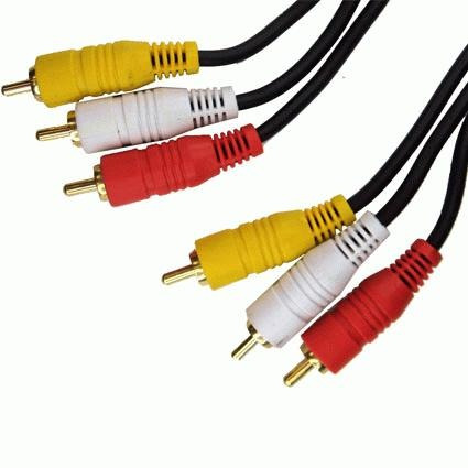 cable 3 rca  a 3 rca plug a plug  1.8 metros 4 milimetro