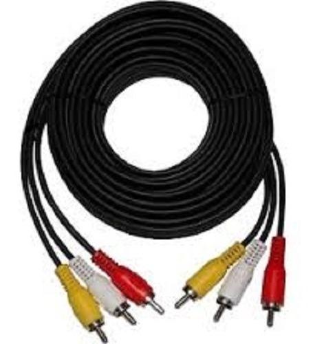 cable 3 rca audio vídeo longitud 15 metros tv blue ray deco