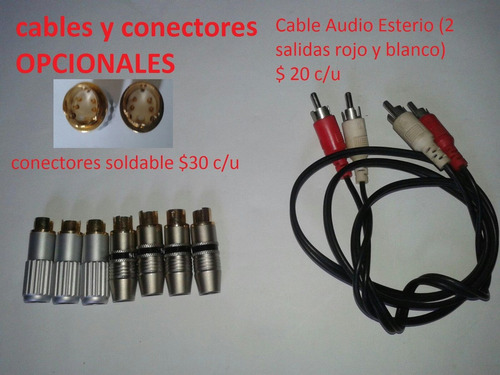 cable 3 rca audio y video a 9 pin din adaptador rgb compuest