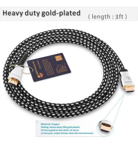 cable 4k hdmi cable de 3 pies -hdmi 2.0 compatible con 1080p