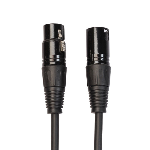 cable 5m 3-pin xlr hembra mic blindado audio