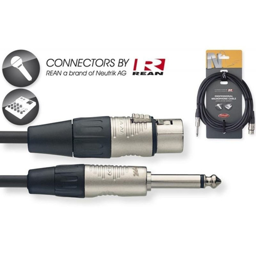 cable 6m canon hembra-plug profesional stagg nmc6xp