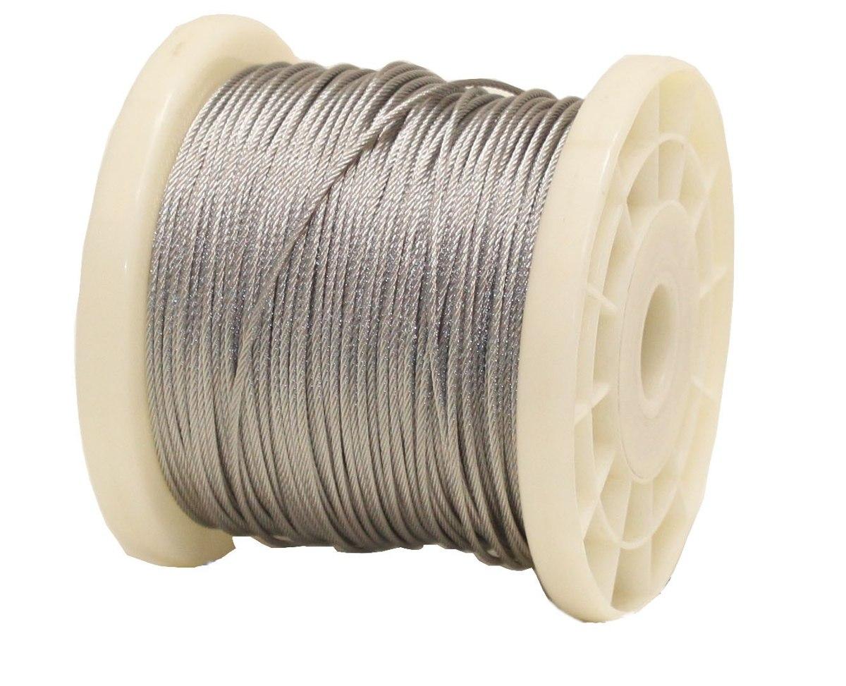 Cable acero inoxidable 7x19 1 4 pulgadas y 610 metros for Cable de acero precio