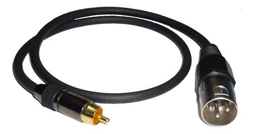 cable adaptador  2  canon xlr machos  a 2 rca  macho 3mts