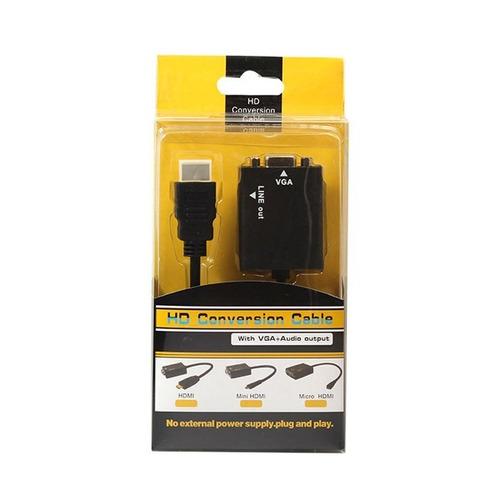 cable adaptador conversor hdmi a vga con audio