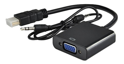 cable adaptador conversor hdmi a vga con audio full hd 1080p