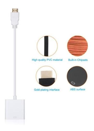 cable adaptador conversor hdmi a vga video tv led proyector