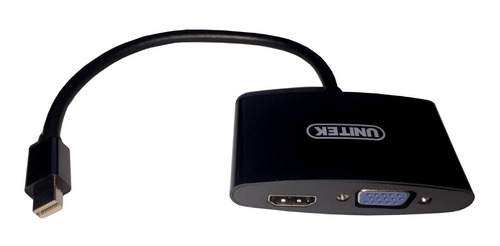 cable adaptador conversor mini display port a vga + hdmi uni