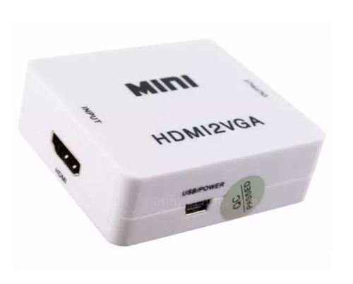 cable adaptador conversor vga a hdmi audio apto notebook