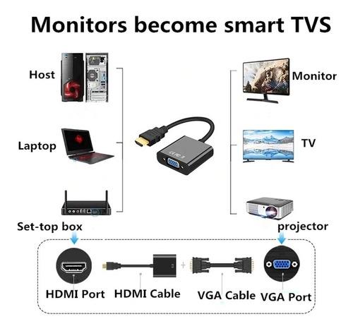 cable adaptador convertidor hdmi - vga +regalo cable 3.5mm