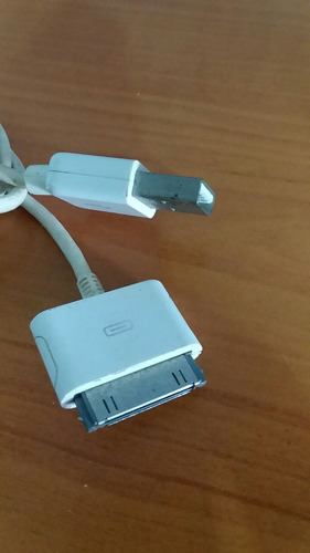 cable adaptador corriente usb iphone/ iphod apple orig 3verd