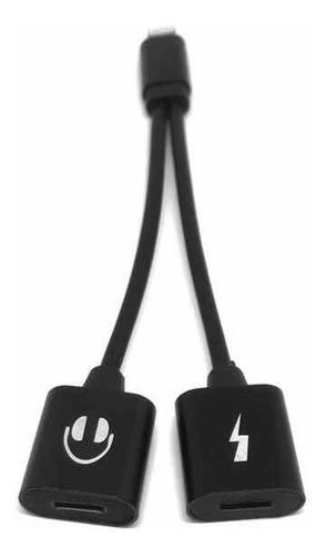 cable adaptador de carga y audio iphone 7/8 +plus