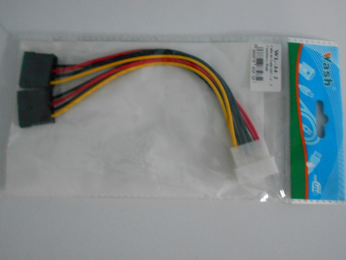 cable adaptador de corriente molex  a  doble -sata.