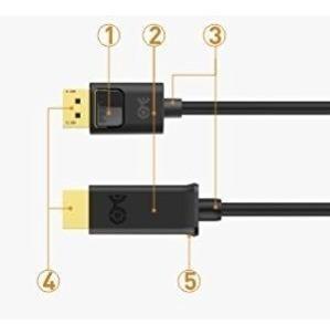 cable adaptador - display port a hdmi - pasivo - 1080p 60hz