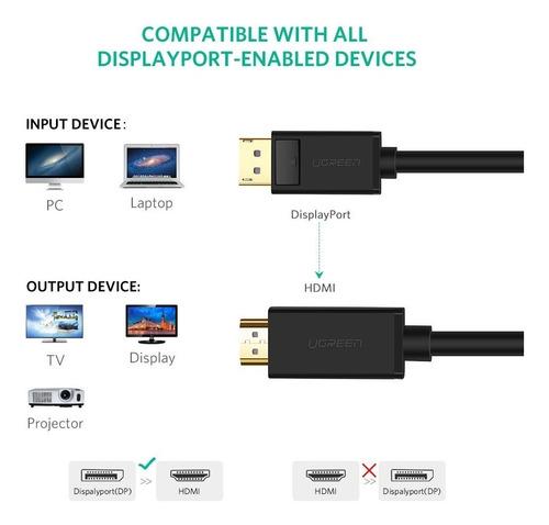 cable adaptador - displayport 1.2 a hdmi pasivo 4k 30hz 1.8m