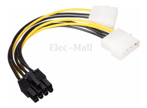 cable adaptador dual molex a 8 pin gpu treo 3 pack