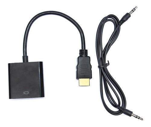 cable adaptador hdmi a vga con audio full hd 1080p