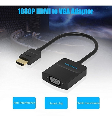 cable adaptador hdmi a vga conversor con audio ps4 vention