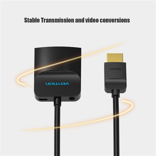 cable adaptador hdmi a vga conversor con audio vention