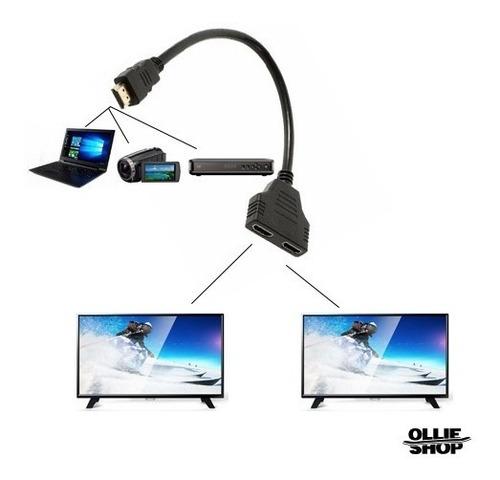 cable adaptador hdmi salida doble splitter duplicador