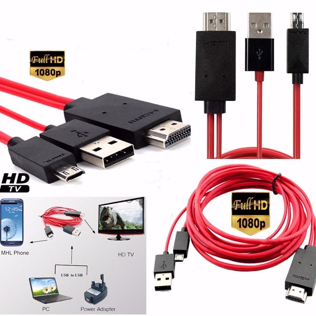 Cable Adaptador Micro Usb Mhl Amp Usb A Hdmi Full Hd 1080p