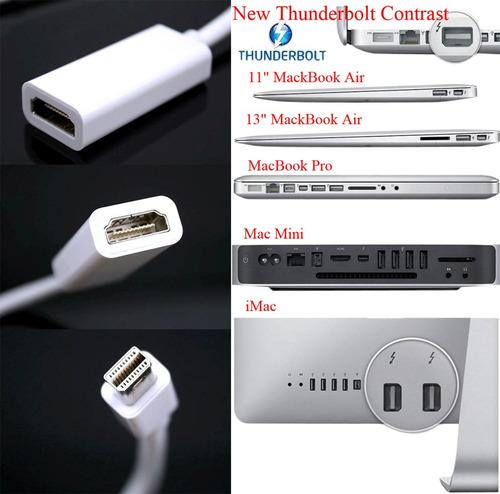 cable adaptador mini display port a hdmi hembra macbook mac