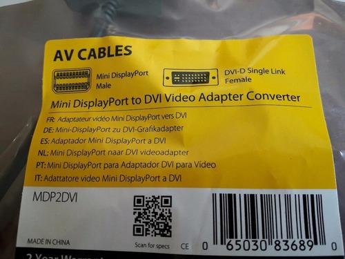 cable adaptador mini displayport a dvi startech full hd -