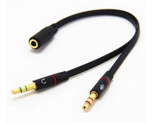 cable adaptador mini plug 3.5mm a microfono auricular pc