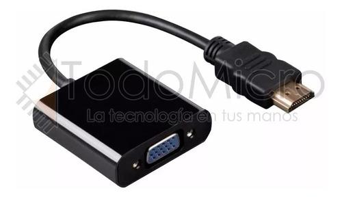 cable adaptador notebook hdmi a proyector vga full hd