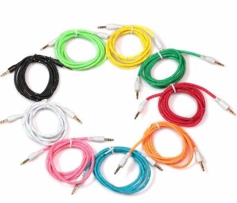 cable adaptador plug 3.5 macho tela estereo ipod o mp3 aux
