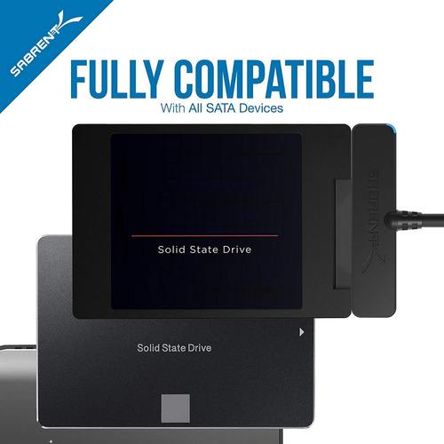 cable adaptador sabrent disco duro sata 2.5 usb 3.0 hdd