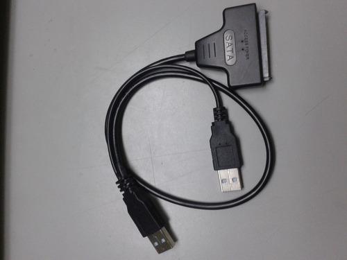 cable adaptador sata a 2 usb para disco duro de laptop 2.5