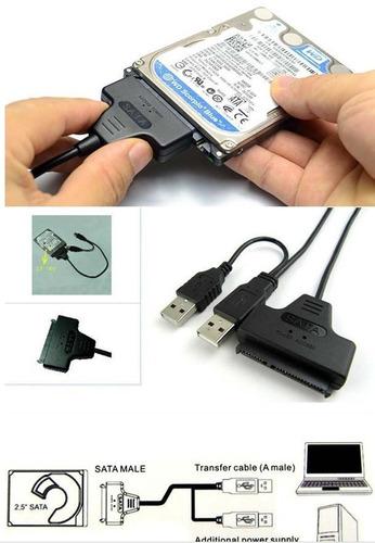 cable adaptador sata a usb para disco duros de laptops 2.5