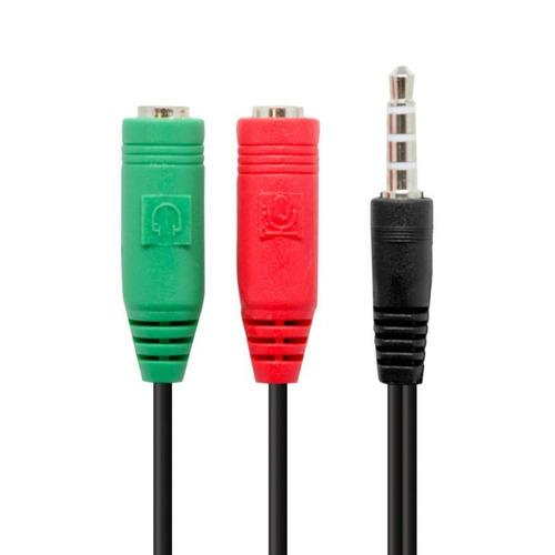 cable adaptador sonido para celular y ps4 a mic y auricular