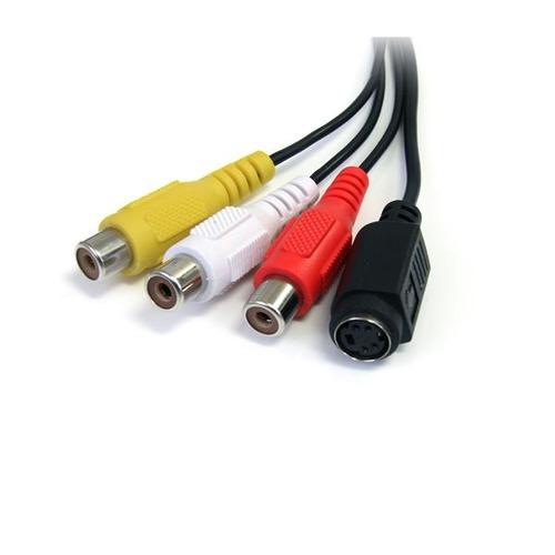 cable adaptador startech.com s-video composite a usb video