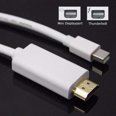 cable adaptador thunderbolt / mini displayport a hdmi - mac