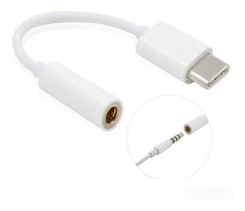 cable adaptador type-c usb tipo c convertidor auxiliar 3.5mm