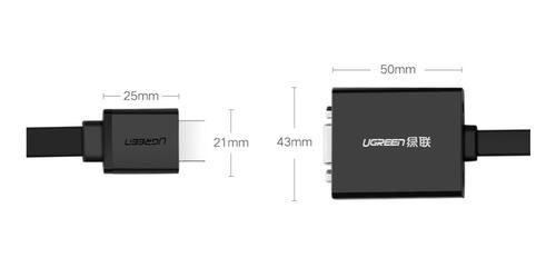 cable adaptador ugreen activo convertidor hdmi a vga c/audio