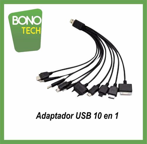cable adaptador usb 10 en 1
