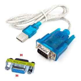 Cable Adaptador Usb A Rs-232+ Cupla Db9 Hembra Centro