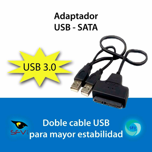 cable adaptador usb a sata disco duro 2.5 laptop usb 3.0