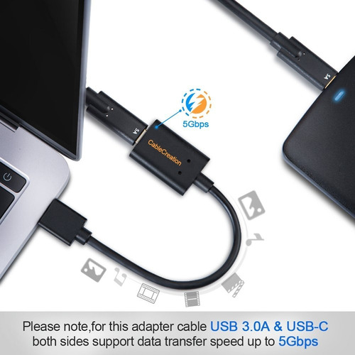cable adaptador - usb-c hembra a usb 3.0 macho