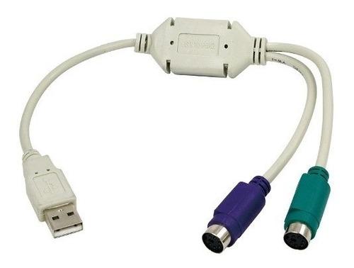 cable adaptador usb macho a ps/2 hembra