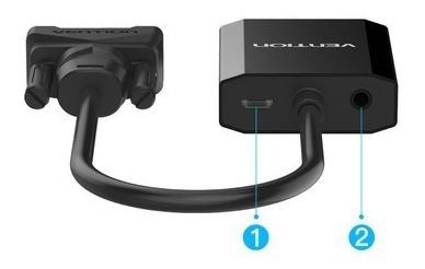 cable adaptador vga macho a hdmi hembra vention