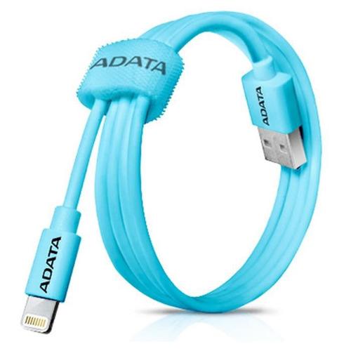 cable adata iphone ipad lightning 2.4a celeste - adata