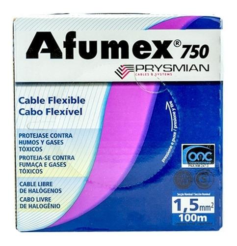 cable afumex prysmian 1,5mm lsoh- libre de halogenos 100mts